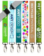 Recycled PET Personalised Lanyards