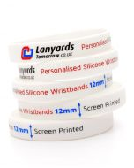 12mm Personalised Silicone Wristbands