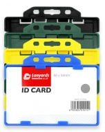 Double Sided ID Card Badge Holders Rigid Open Horizontal