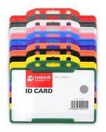Rigid ID Plastic Badge Card Holder
