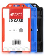 Vertical Rigid ID Plastic Badge Card Holder