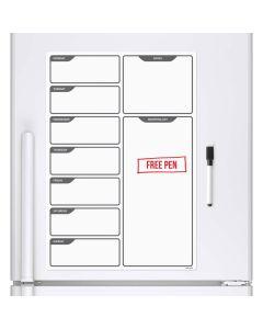 Magnetic planner for a fridge