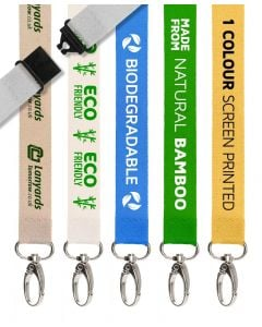 Eco Bamboo Personalised Lanyards