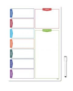 Magnetic Daily Planner Fridge Board With Shopping List