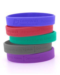 Debossed Personalised Silicone Wristbands Custom