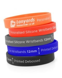Debossed Ink Filled Silicone Wristbands Custom