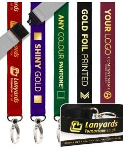 Gold Foil Print Personalised Lanyards