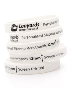 12mm Personalised Silicone Wristbands Custom