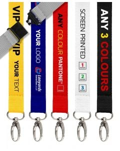Personalised Lanyards 3 Colour Screen Printed