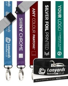 Chrome Foil Print Personalised Lanyards