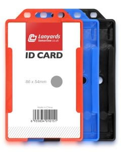 Vertical Rigid ID Plastic Badge Card Holder